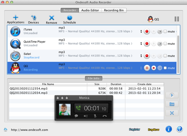 Record QQ conversations - Easy Tool to Record QQ audio chats on Mac OS