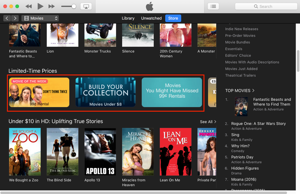 how to watch rented movies on itunes