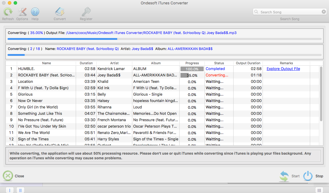 iTunes Music Converter for Mac - Batch convert iTunes Music