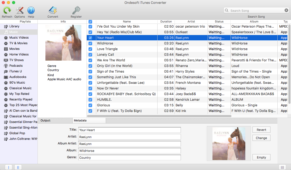 iTunes converter library