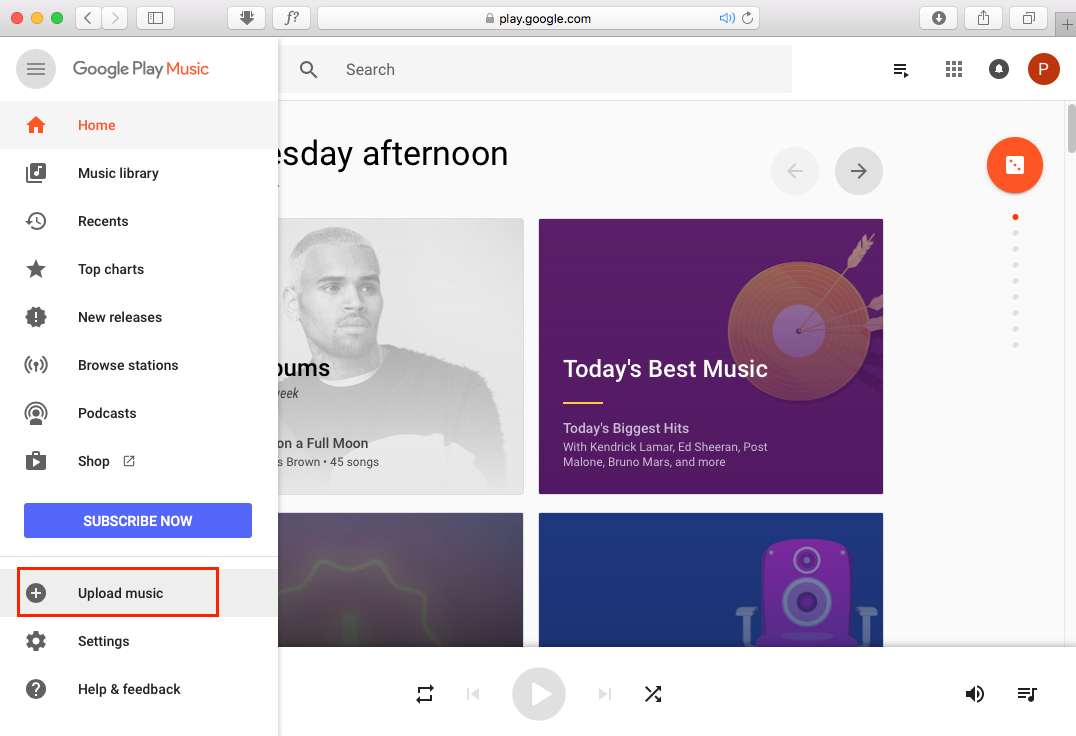 upload Spotify playlist to Google Play Music