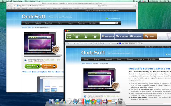 Screen capture for mac screenshot capture and editor capture screen capture software ccuart Images