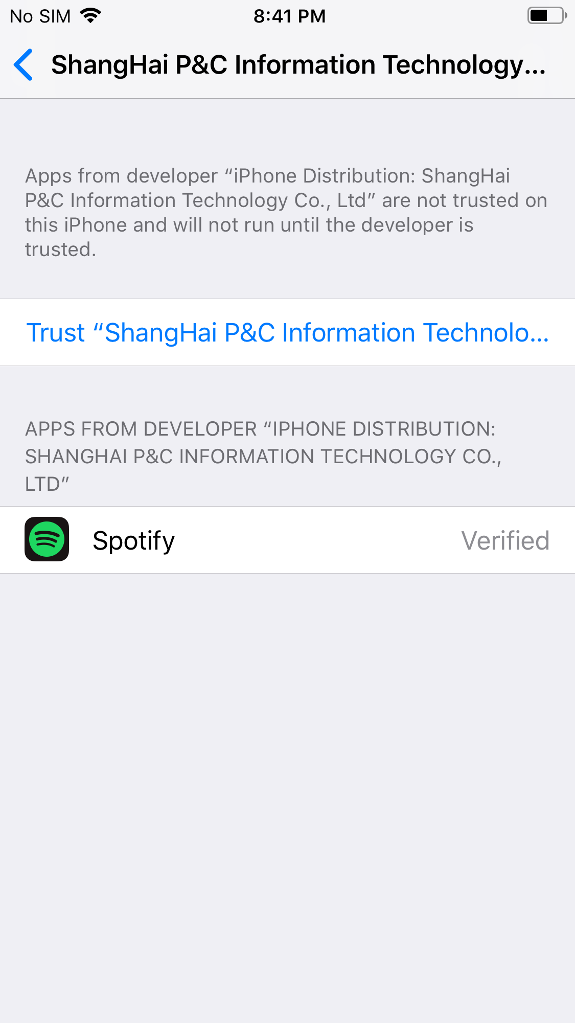 Instructions for Spotify++ iOS Download from TweakBox