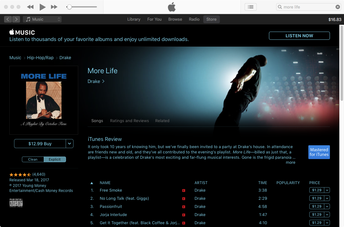 drake more life album download